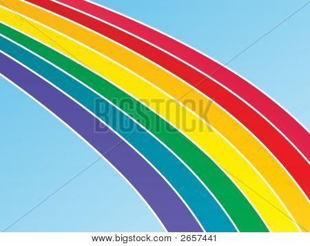 Large Rainbow Background
