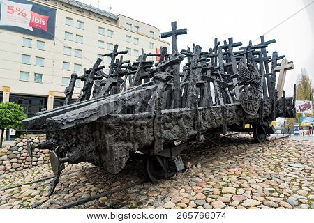 Warsaw, Poland - October 22, 2017: View Of The Monument To The Fallen And Murdered In The East, A Mo