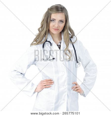 Full-length Portrait Of A Confident Female Doctor