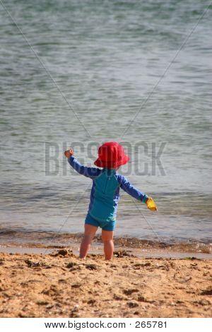Kid At Beach