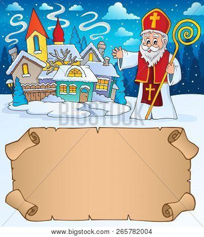 Small Parchment And Saint Nicholas 2 - Eps10 Vector Illustration.