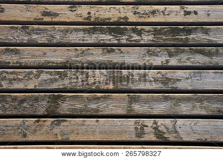 Old Brown Wooden Wall, Detailed Background Photo Texture. Wood Plank Fence Close Up. Old Board Wall