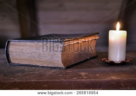 Storybook Candle Book Diary Magic Book Old History