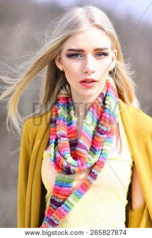 Hip Hop Girl With Fashionable Hair. Woman Maintaining Fashion Blog. Fashion Portrait Of Woman. Hipst