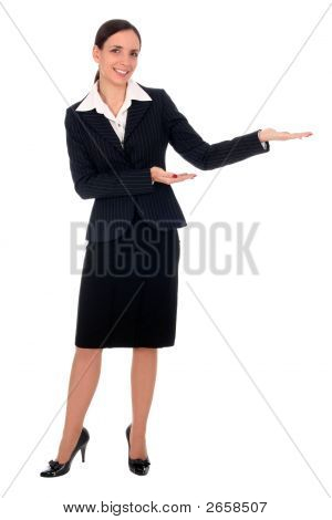 Businesswoman Pointing