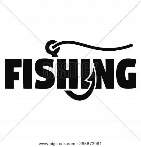 Modern Fish Hook Logo. Simple Illustration Of Modern Fish Hook Logo For Web Design Isolated On White