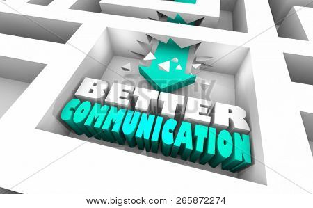 Better Communication Maze Communicate Best 3d Illustration