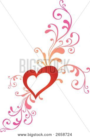 Creative illustration Valentine greeting card with heart in white color poster