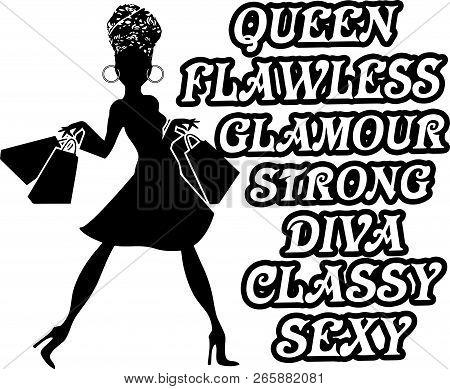 African American Pretty Lady Classy Lady Diva Queen Power Strong Female Woman Praying God Believe Li