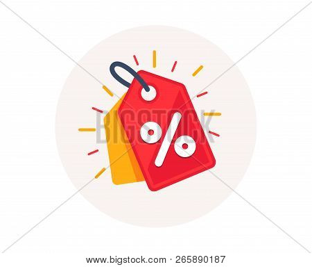 Discount Offer Tag Icon. Shopping Coupon Symbol. Sale Label Tag With Percentage Sign. Black Friday D