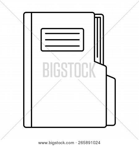 Folder Icon. Outline Illustration Of Folder Icon For Web Design Isolated On White Background