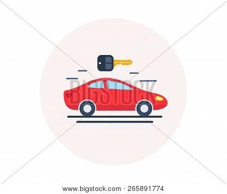 Car Rental Icon. Automobile Repair Service Sign. Spare Parts Store. Rent A Car. Public Transportatio