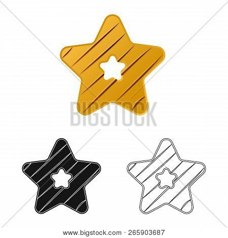 Vector Design Of Biscuit And Bake Symbol. Collection Of Biscuit And Chocolate Stock Vector Illustrat