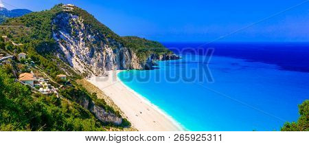 Best beaches of Lefkada - impressive Milos. Ionian islands of Greece