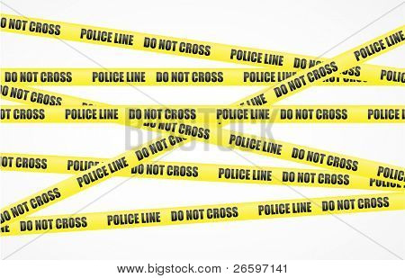 Vector police line tape