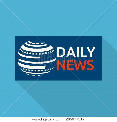 Global Daily News Logo. Flat Illustration Of Global Daily News Logo For Web Design