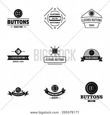 Dressy Logo Set. Simple Set Of 9 Dressy Logo For Web Isolated On White Background