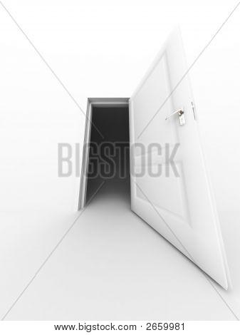Wall And Opened Door