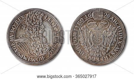 Copy Of The Silver Thaler Coin Of Holy Roman Emperor, King Of Hungary, Croatia, And Bohemia  Leopold