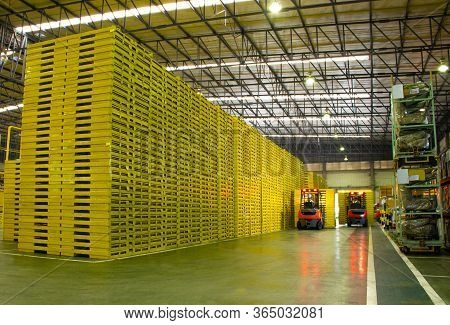 Industry Factory Iron Works Steel There Is A Product Forklift Truck.