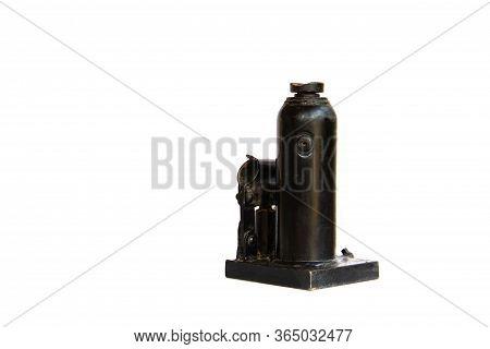 Black Jack For Car Lift On White Background