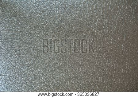 Beige Faux Leather Texture. Artificial Leather Close-up
