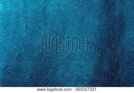 Metallic Faux Leather Sea Wave. Artificial Leather Texture. The Concept Of Snake Skin