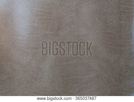 Beige Faux Leather. Artificial Leather Texture Close Up
