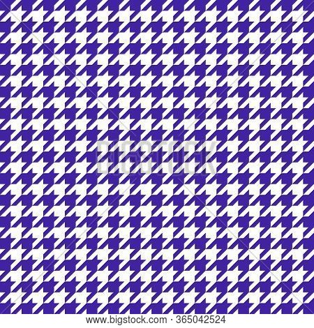Goose Foot. Pattern Of Crows Feet In Violet And White Cage. Glen Plaid. Houndstooth Tartan Tweed. Do