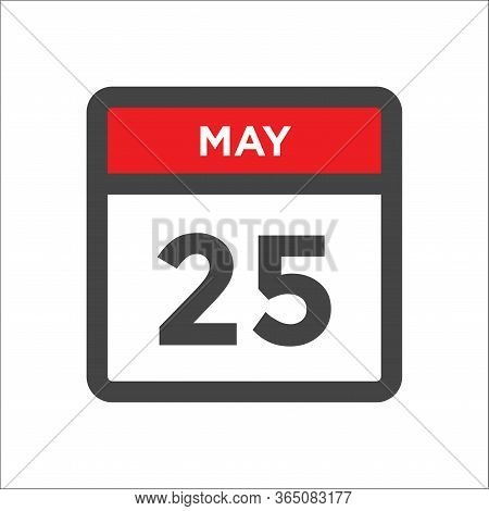 May 25 Calendar Icon - Day Of Month