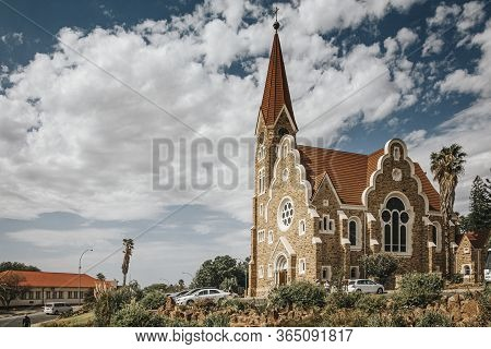 City View And Lutheran Christ Church, Fidel Castro Street, Windhoek (windhuk), Khomas Region, Republ