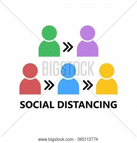 Social Distancing Concept , Social Distancing In Public, People Practice Social Distancing To Protec