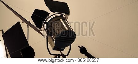 Studio Light And Back Drop And Soft Box Set Up For Shooting Photo Or Video