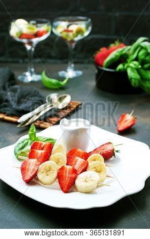 Banana With Strawberry