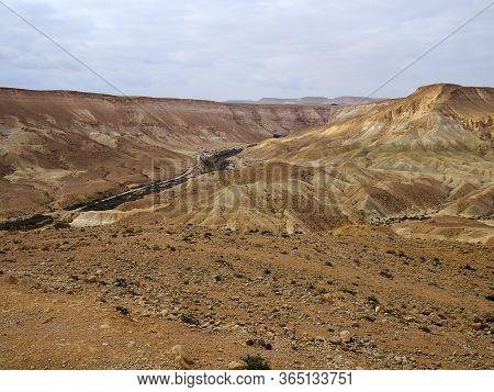 Ein Avdat Near Sde Bokerin  The Negev Desert Israel Touristic Landmark Attraction - There Are Eviden
