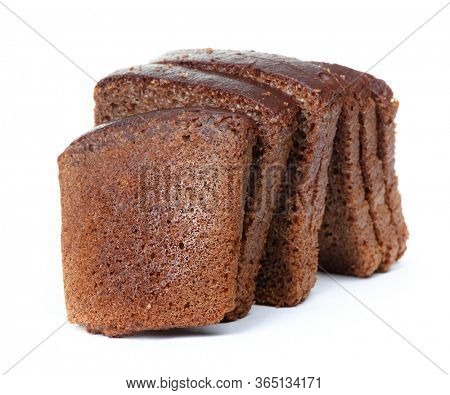 Sliced loaf of bread isolated over white background