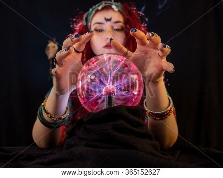 Fortune Teller Lady  Is Telling About Your Future