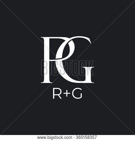 Abstract Letter Rg Linked Overlap Design Logo Vector