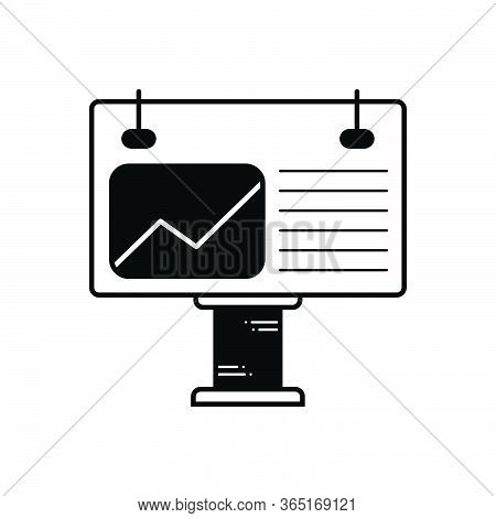 Black Solid Icon For Billboard Sign Exhibition Publicity Advertisement