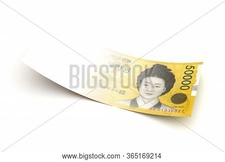 Bad Economy Japanese Yen (isolated With Clipping Path) 3d Rendering