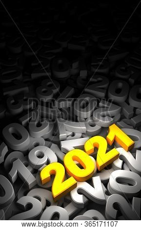 New Year Date 2021 And Old 3d Rendering