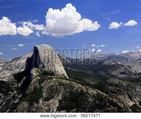 Half Dome in Yosemite from Glacier Point