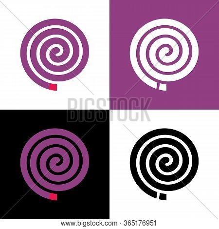 Purple Color Insect Repellent, Lavender-smelling Mosquito Repellant, Vector Illustration Design
