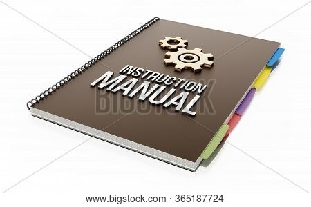 Instruction Manual Isolated On White Background. 3d Illustration.