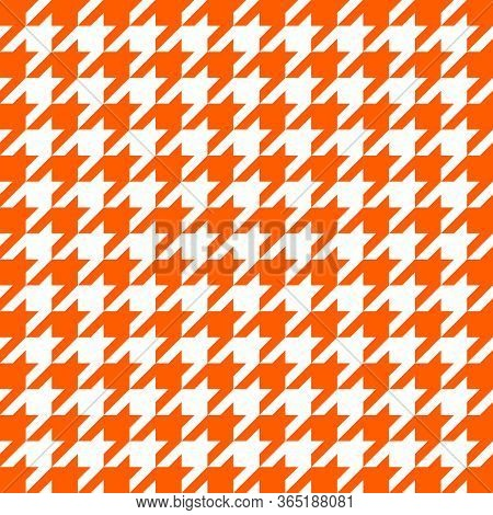 Goose Foot. Pattern Of Crows Feet In Orange And White Cage. Glen Plaid. Houndstooth Tartan Tweed. Do