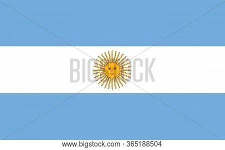 Argentina Flag Vector Graphic. Rectangle Argentinian Flag Illustration. Argentina Country Flag Is A