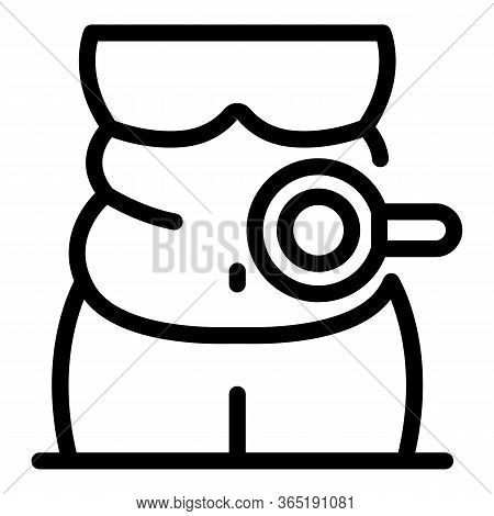 Fat Body Icon. Outline Fat Body Vector Icon For Web Design Isolated On White Background