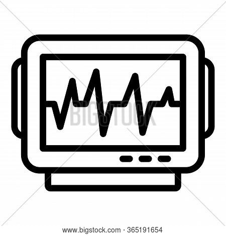 Cardiogram Icon. Outline Cardiogram Vector Icon For Web Design Isolated On White Background