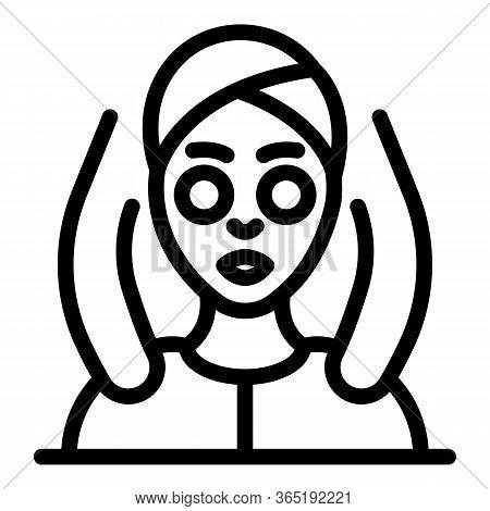 Shoulder Massage Icon. Outline Shoulder Massage Vector Icon For Web Design Isolated On White Backgro