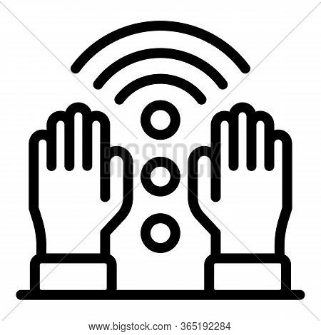 Hands Of A Massage Therapist Icon. Outline Hands Of A Massage Therapist Vector Icon For Web Design I